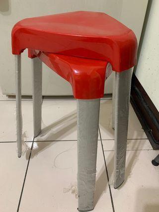 紅色椅凳 (可疊$