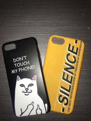 Two iPhone 7/8 cases for only P150