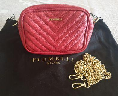 2 in 1 PIUMELLI LEATHER BELT & SLING BAG