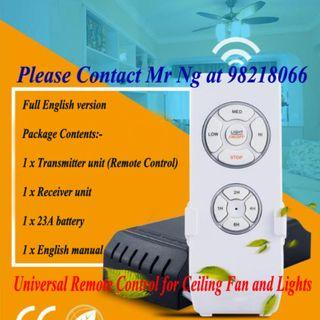 Fan and Lights Remote Control for Ceiling Fan