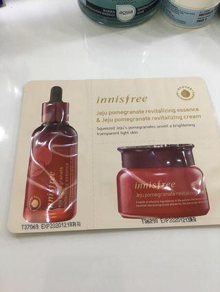 Innisfree jeju pomegranate essence & cream