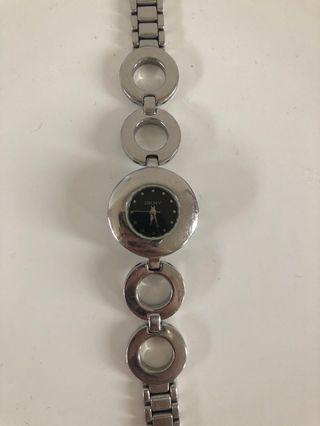 DKNY round face watch