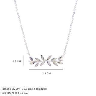 Bonny&Read 韓國 浪漫桂冠鎖骨鍊 Romantic Laurus Necklace Silver  銀色