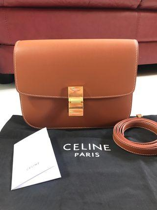 客訂實拍❤️2019 Celine box medium 焦糖色