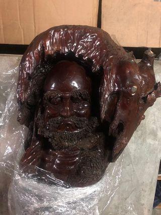 樟木 達摩祖師木雕藝術品