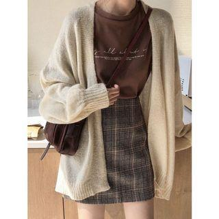 [PO] high waisted checkered skirt