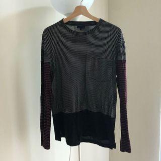Lanvin striped long sleeve t-shirt