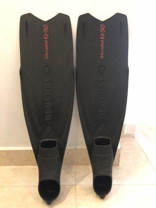 🚚 Beuchat Mundial One-50 freediving fins