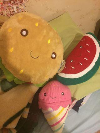 NEW Food Plush toy set