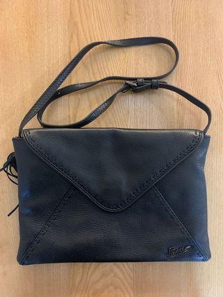 Lancel leather envelope bag