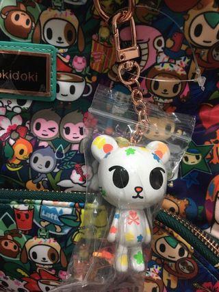 tokidoki palette keychain from  rainforest backpack