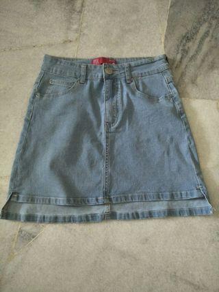 Denim jeans skirt