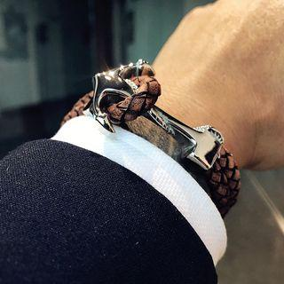 4 Colors Double Layer Anchor Design Men Bracelet Stainless Steel Men Fashion Jewelry