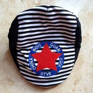Topi Anak Cowok Bintang Warna Hitam