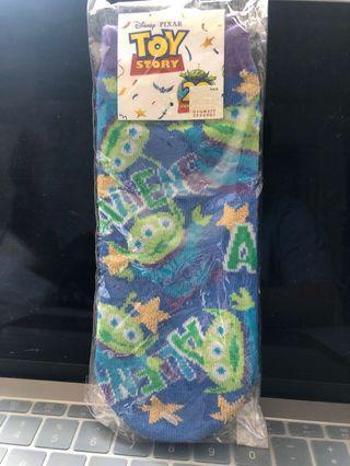 Toy Story 三眼仔 短襪 22-24cm 深藍 紫色