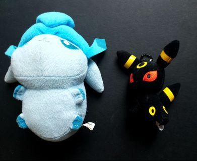 Pokemon Umbreon & Glaceon Plush Toy Banpresto Lot