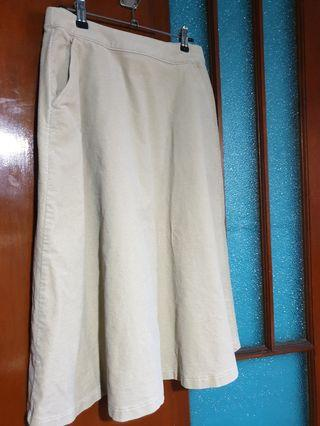 Uniqlo Corduroy A-Line Midi Skirt