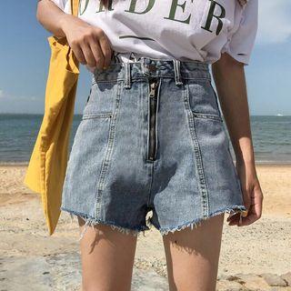 🚚 拉鍊單釦短褲