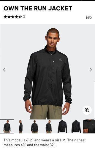 🚚 Adidas Own The Run JKT Black