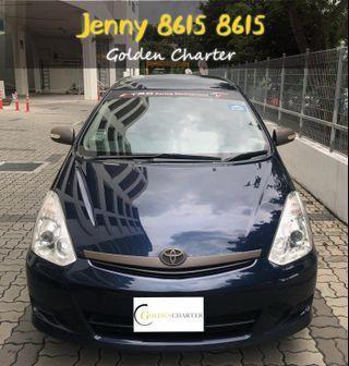 MPV Toyota Wish 1.8a ready for phv grab gojek pdvl personal use rental cheap car rent