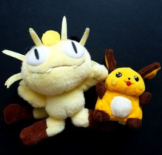 Pokemon Vintage Tomy Gen 1 Raichu & Meowth Lot