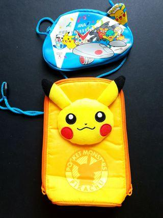 Pokemon ANA Promo Pouch & Pikachu Bag