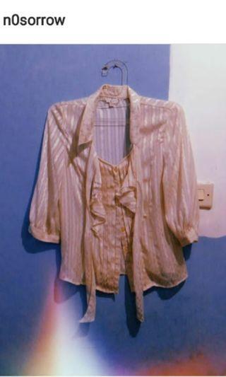 sheer top / blouse