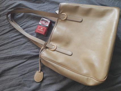 Marie claire leather tote bag
