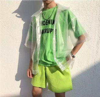 Unisex Transparent Outerwear