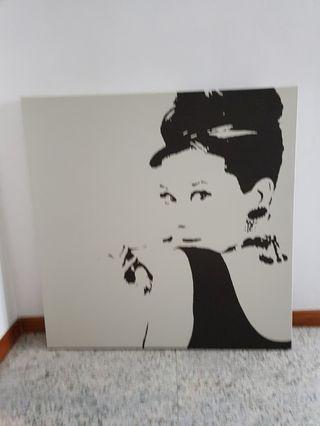 🚚 Ikea Audrey Hepburn Canvas