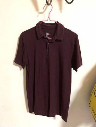 🚚 H&M Maroon Polo Tee #FATHERSDAY35