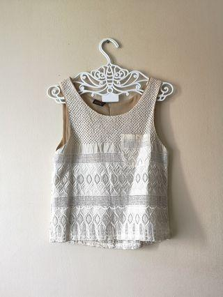(NEW) White Lace Top