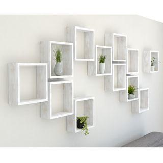 Rustic Square Shelves