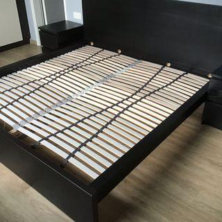 IKEA MALM King Bed Frame - fit local king size mattress