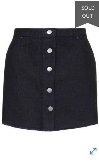 Topshop Marques Almedia Denim Skirt #MRTSerangoon