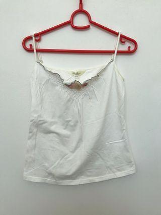 🚚 Chaber delicate white cami top #MRTSerangoon