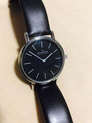 Authentic Skagen Watch - 4746LSLB (Black Leather) No Box