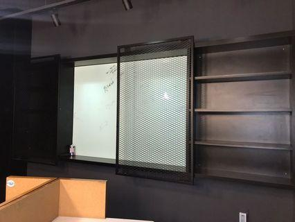Custom Black Book Shelf