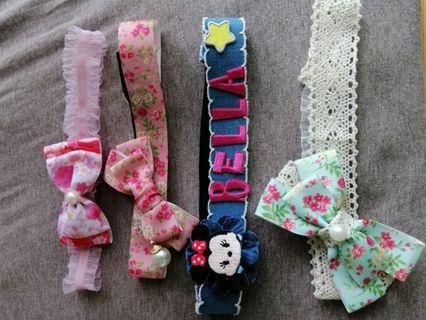包郵 Handmade headband 手作頭飾 頭帶 可訂造 自家製 可加名