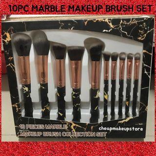 Marble 10pc Makeup Brush Set