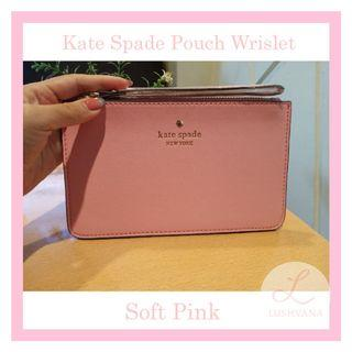 Kate Spade Pouch Wrislet Authentic Softpink