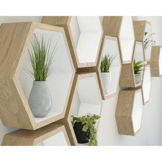 hexagon decorative shelves