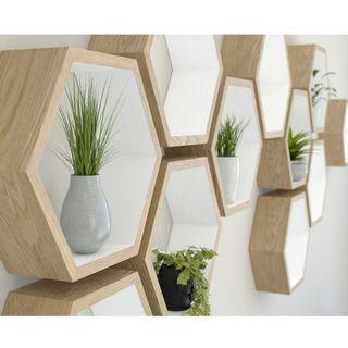 hexagon shelves wall decor
