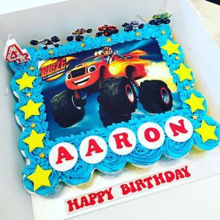Blaze and the Monster machines pullapart cupcakes cake