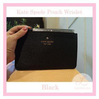 Kate Spade Pouch Wrislet Authentic Black