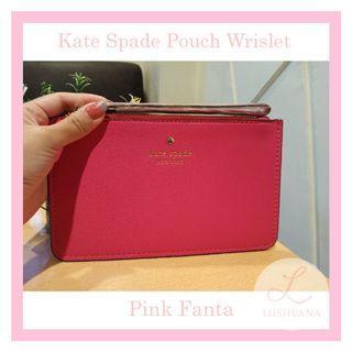 Kate Spade Pouch Wrislet Authentic Pinkfanta