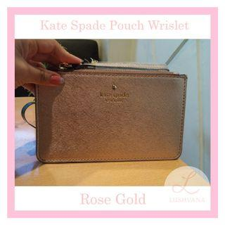 Kate Spade Pouch Wrislet Authentic Rosegold