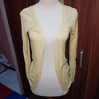 Yellow brocade Cardigan