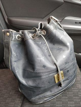 Authentic MCM Monogram Bucket Handbag