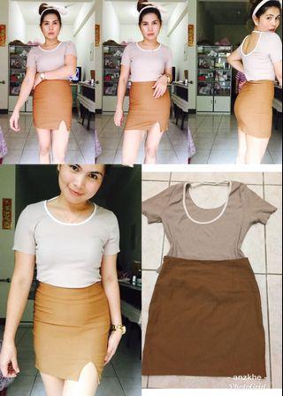blouse& skirt